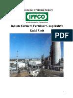 Training Report of IFFCO KALOL_Daxit Akbari