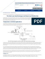The Heat Load, Heat Exchanger and Steam Load Relationship