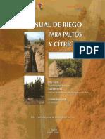 Manual de Riego Para Paltos y Citricos