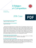 2016 Moot Court Competition Case
