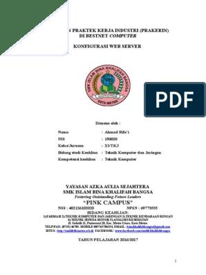 Laporan Praktek Kerja Industri Konfigurasi Web Server Di Debian 6 Doc