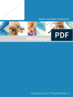 Advice and Safe Practice for Micropigmentation