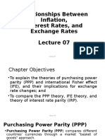 Lecture 07 Relationships Among Inflation, Interest Rates, And Exchange Rates