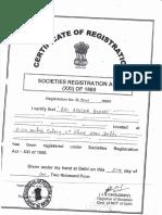 Societies Registration