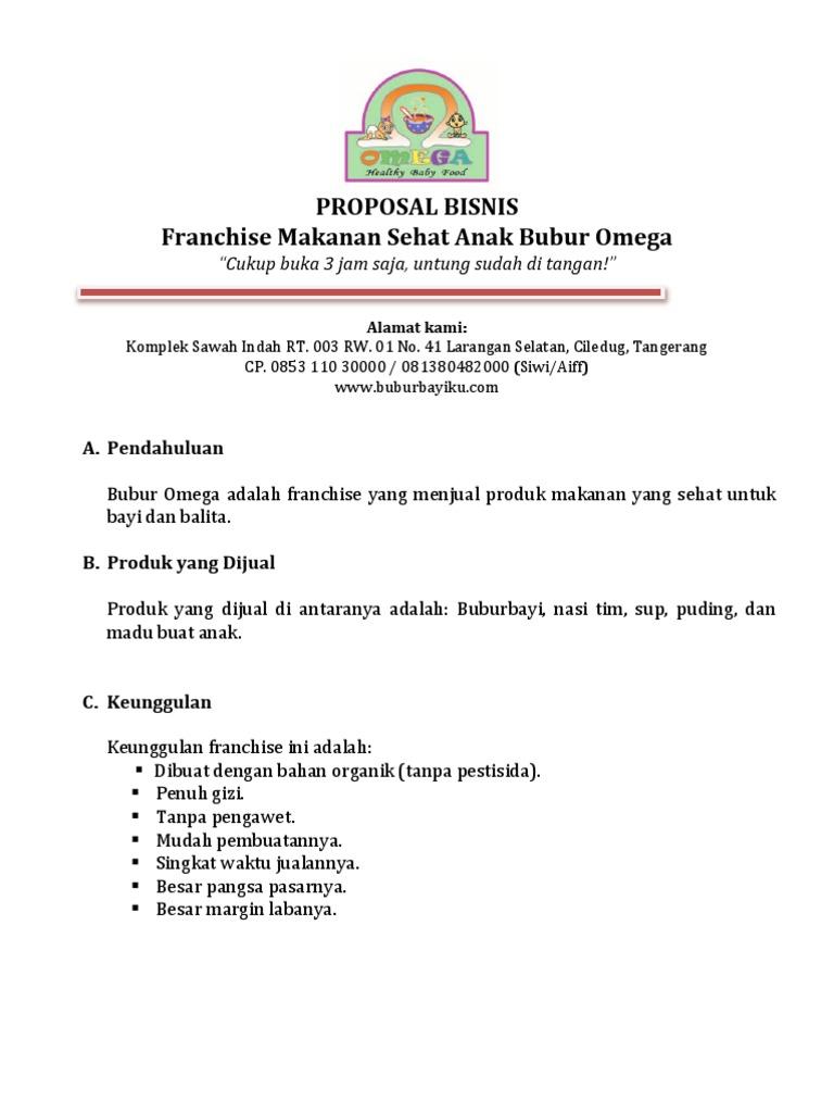 Contoh Proposal Franchise Makanan Pdf - Guru Ilmu Sosial