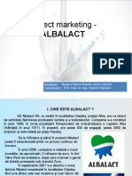 Proiect Marketing - ALBALACT
