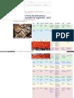 Calendario de Ferias de Artesanías y Mercados Artesanales de Argentina - 2015