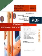 Seminario Semiología N_ 13 - Sindromes Tiroideos y Paratiroideos