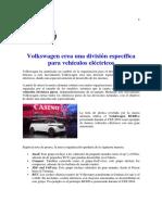 Volkswagen Crea Una División Específica Para Vehículos Eléctricos