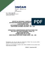 Upute Za Uporabu i Odrzavanje Asinkronih Motora
