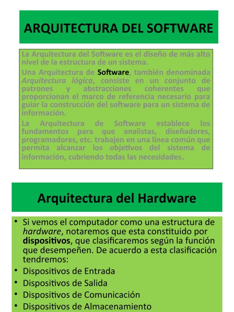 Arquitectura Del Software Y Hardware
