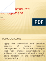 Unit I - Introduction to Human Resource Management