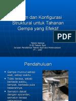 Teknik Gempa 06 Sistem Dan Konfigurasi Struktural Untuk Tahanan Gempa