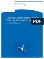 Executive Summary Four Pillars of Motivation Initiatives the Maritz Institute