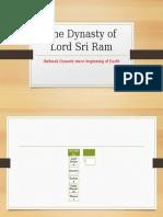 The Dynasty of Lord Sri Ram