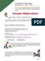 Tarefa 4 Multiplos e Divisores Mdc e Mmc
