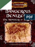 D&D 3.0 - Kingdoms of Kalamar - Dangerous Denizens - The Monsters of Tellene.pdf