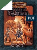 D&D 3.0 - Kingdoms of Kalamar - The Lost Tomb of Kruk-Ma-Kali