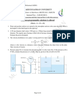 Fluid Mechanics and Machinery_UnitTest-01_2013_JD (CR Assignment)