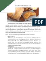 Cara Memulai Bisnis Online Roti