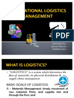 38068078 International Logistics Management