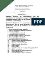 Diagnostico de Lengua Española i