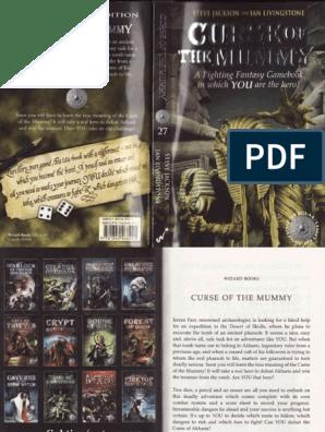 EN - 59 - Curse of the Mummy pdf | Luck | Magician (Fantasy)