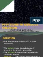 Unit 10 Reactions in Aqueous Solution