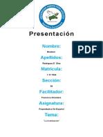 Propedeutico de Español Tema 2