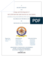 Multipurpose Mechanical Machine Project Report