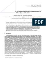 Finite Element Modeling for Electric Field and Voltage Distribution Along the Polluted Polymeric Insulator