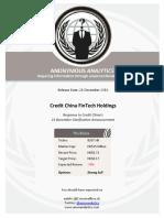 CreditChina Response