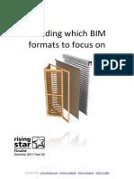 Deciding Which BIM Formats to Focus on-BIMstop