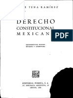 Derecho Constitucional Mexicano Felipe Tena Ramirez