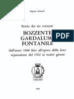 Storia dei tre torrenti Bozzente, Gardaluso e Fontanile