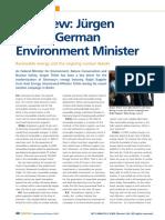 Interview Jurgen Trittin German Environm