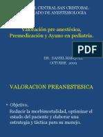 Premedicacion, Ayuno, Preparacion Anestesicos en Pediatria[1]