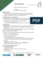 Escharotomy Guidelines