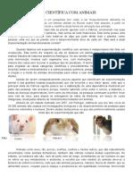 Experimentação Cientifica Em Animais