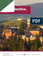 WSU MBA Brochure
