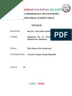 Informe Plan Maestro