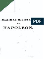Maximas Militares de Napoleón 1828