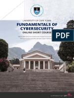Uct Fundamentals of Cybersecurity Online Short Course Information Pack