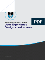 Uct User Experience Design Course Information Pack