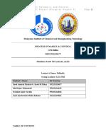 CPB30004 Process Dynamics and Control Mini Project