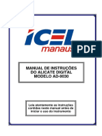 Manual Do Alicate Amperimetro -AD-9030