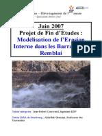 Etude de l'Erosion Interne