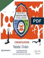 Diploma Concept2 Certificate Skeleton-crew 2017 31000