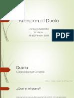 Atencion Al Duelo Ecuador 25al29mayo2016