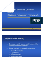 Being an Effective Coalition using the Strategic Prevention Framework